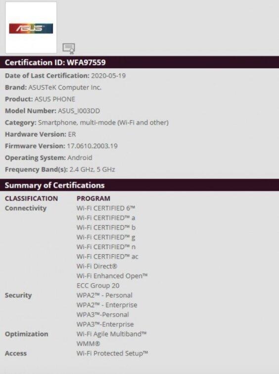 Asus Rog Phone 3 Geekbench nuevo