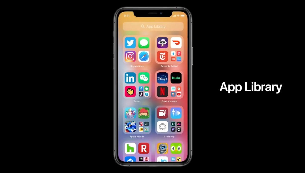 App Library iOS 14 1