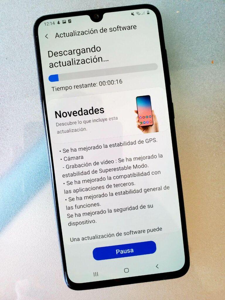 Samsung A70 pantalla