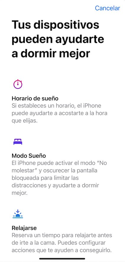 Dormir mejor iOS 14
