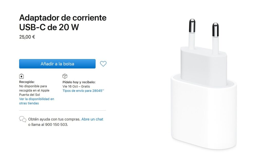 Apple cargador iphone